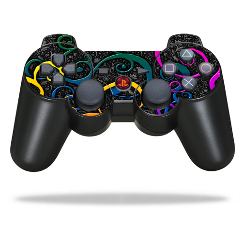 Protective Vinyl Skin Decal Cover for Sony PlayStation 3 PS3 Controller wrap sticker skins Color Swirls