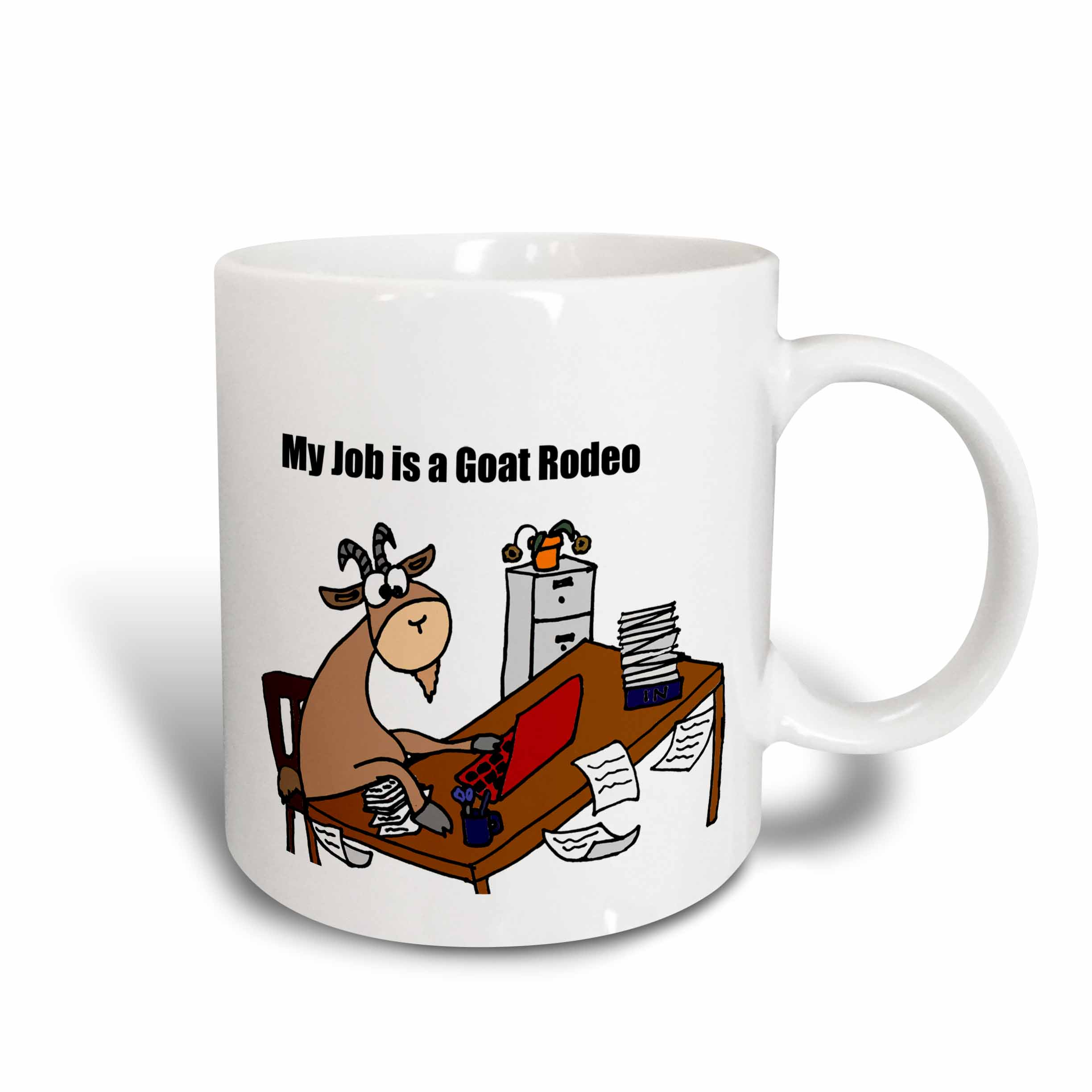 Is A Goat 3drose My Job Ounce Rodeo Mug11 CartoonCeramic A4c3RqS5jL