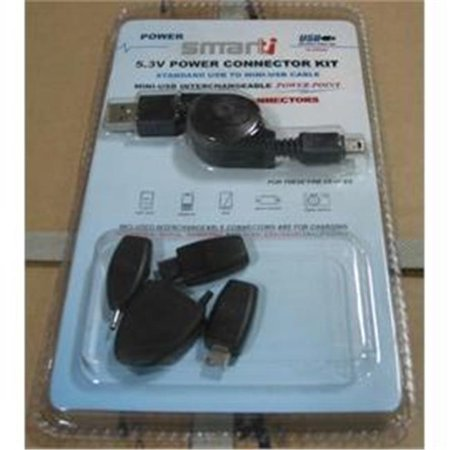 Smartti SMT-USB-PCK08020 Smartti Accessory CELL PHONE USB POWER CONNECTOR KIT BLACK RETAIL