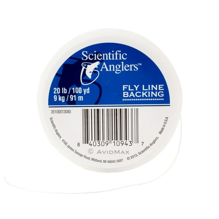 Dacron Fly Line Backing (Scientific Anglers Dacron Fly Line Backing White, Orange, and Yellow 20lbs/30lbs )
