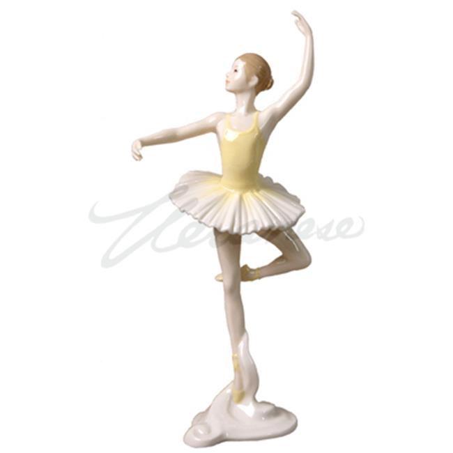 Unicorn Studios BP00373AC Porcelain Figurine Ballerina Confidence En L Air - Yellow - image 1 of 1