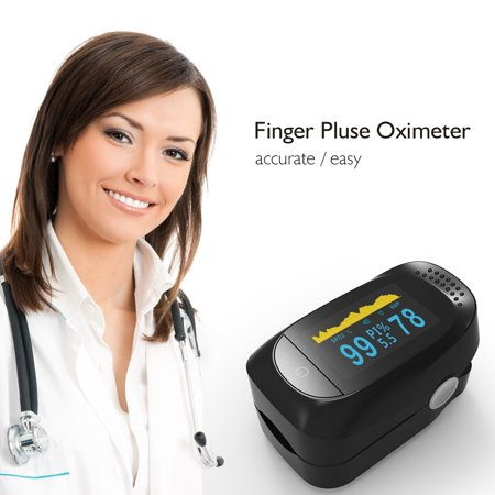 Adult Finger Probe - TOPCHANCES Pulse Reader Oximeter, Accurate Finger Tip Pulse Oximeter Digital SP02 Pediatric Pulse Oximeter with 8 Hours Sleep Heart Rate Monitor for Family Parents Adults