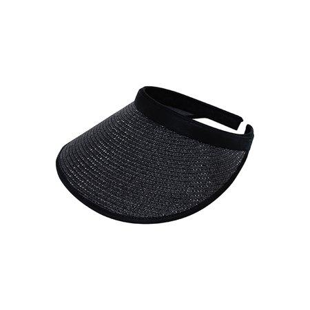 Top Headwear Toyo Braid Clip-On Visor - Black Ladies Toyo Hat