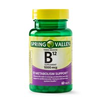 Spring Valley Vitamin B12 Timed-Release Tablets, 1000 mcg, 60 Count
