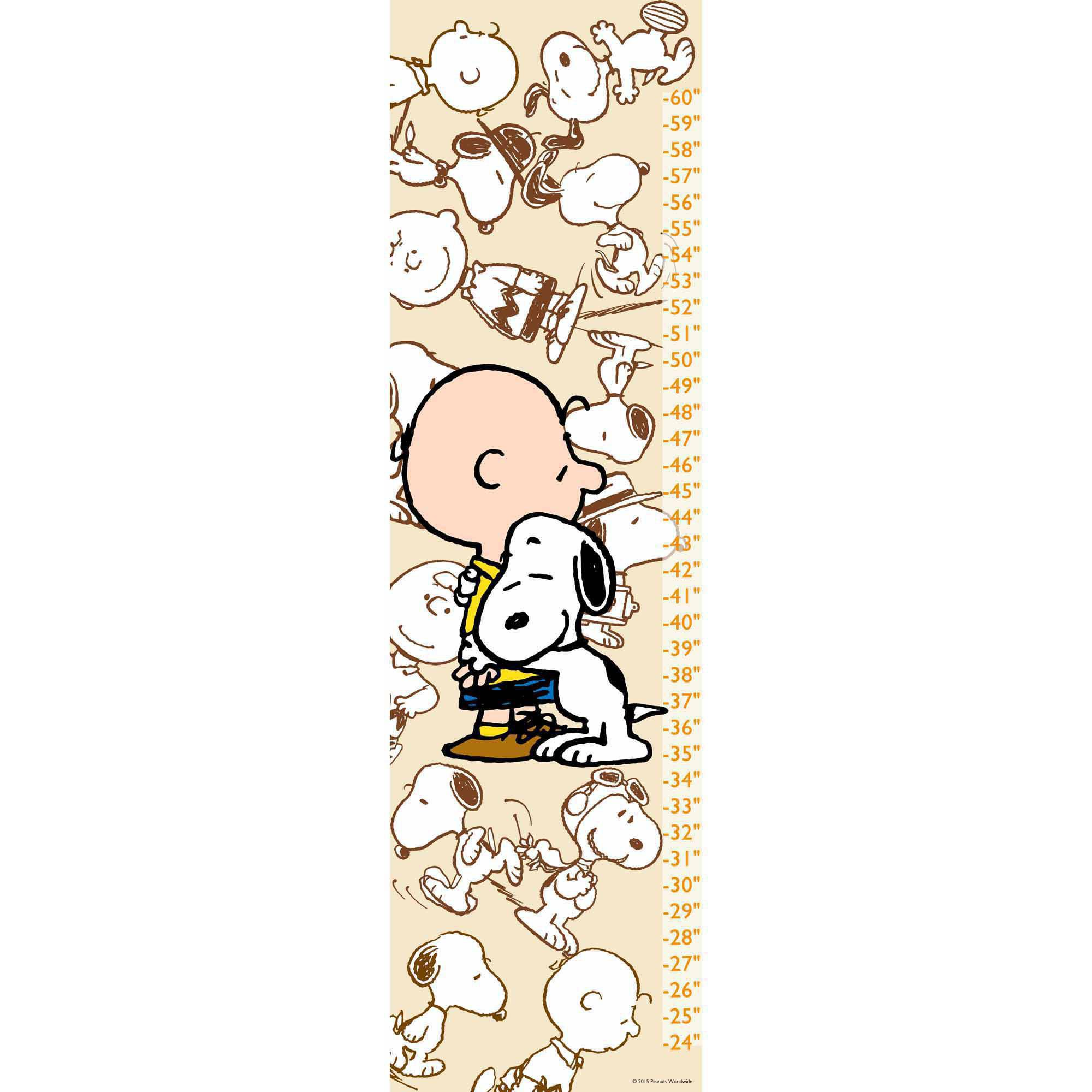 Peanuts Snoopy and Charlie Brown Canvas Growth Chart
