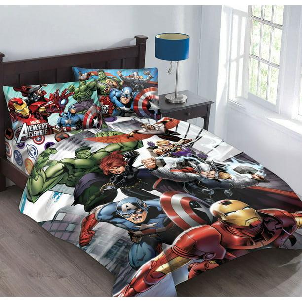 Marvel Avengers Agents Of Shield Twin, Marvel Avengers Queen Bedding Set