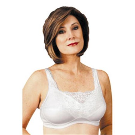 Classique Post - Classique 765SE Post Mastectomy Fashion Bra-White-44A