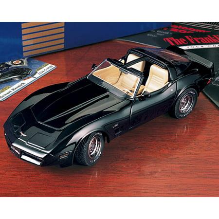 1980 Corvette L-82 in Black  Diecast Model Car by The Franklin Mint in 1:24 -