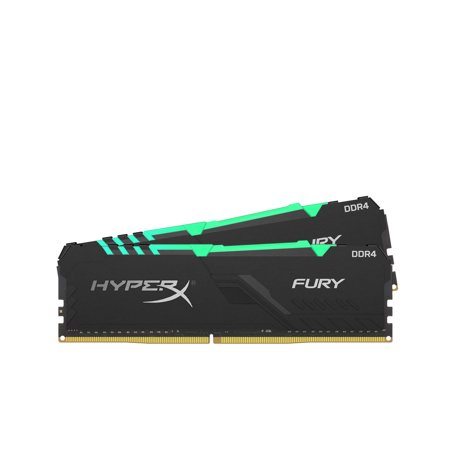 HyperX Fury RGB 16GB 3600MHz DDR4 Ram CL17 DIMM (Kit of 2) 1Rx8 RGB Desktop Memory Infared Sync Technology Kingston Hyperx Pc Memory