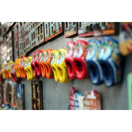 - Peel-n-Stick Poster of Many Wooden Shoes Wood Colorful Amsterdam Holland Poster 24x16 Adhesive Sticker Poster Print