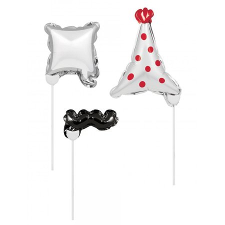 Creative Converting Birthday Balloon Photo Props, 3 - Photo Balloons Cheap