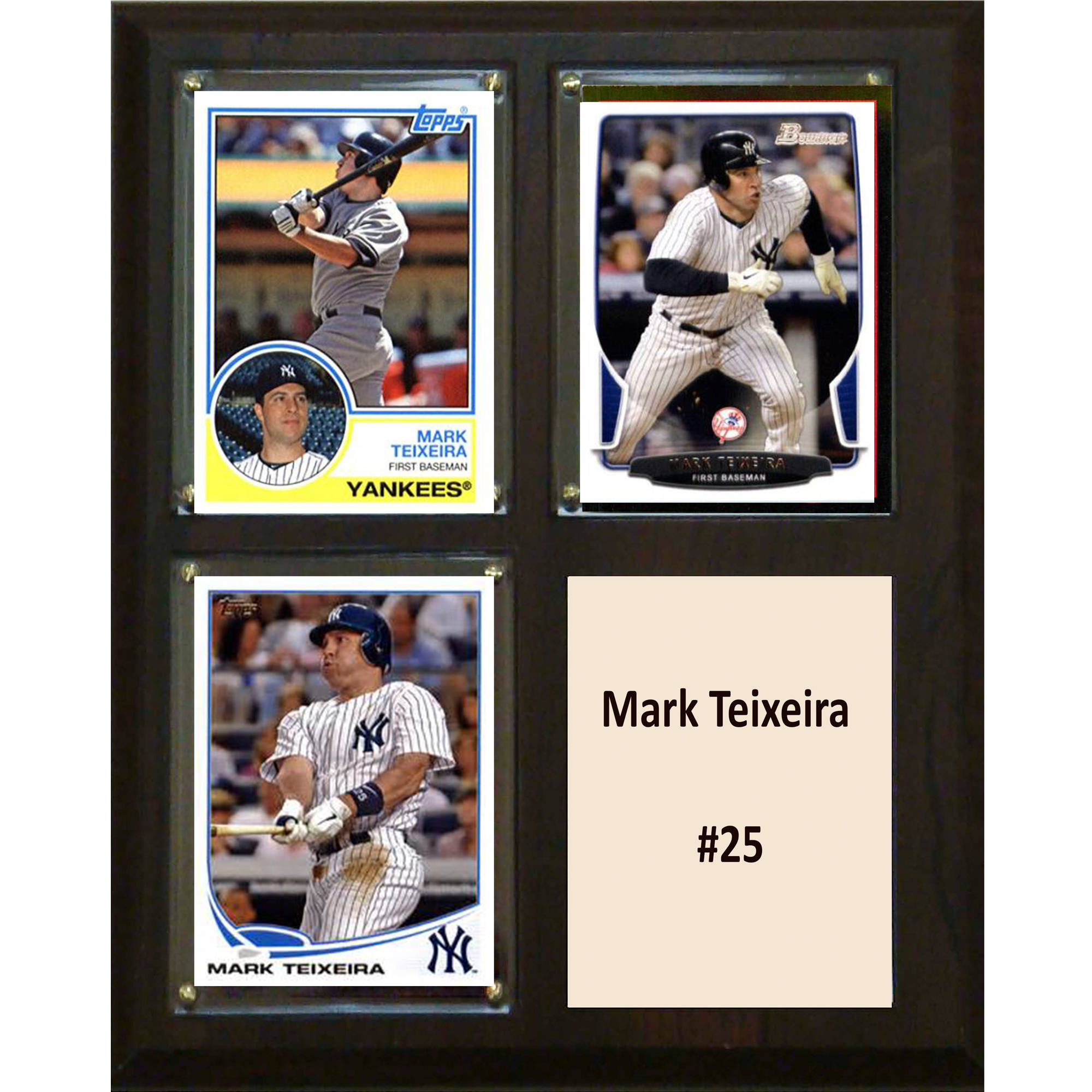 C&I Collectables MLB 8x10 Mark Teixeira New York Yankees 3-Card Plaque