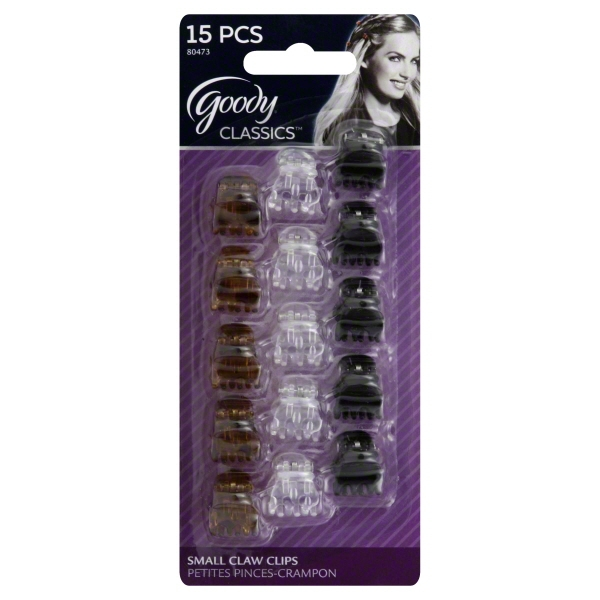 Goody Mini Claw Clips, 15 count