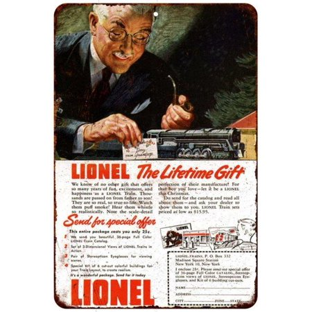 Lionel Trains Christmas Vintage Look Reproduction 8X12 Metal Sign 8120946