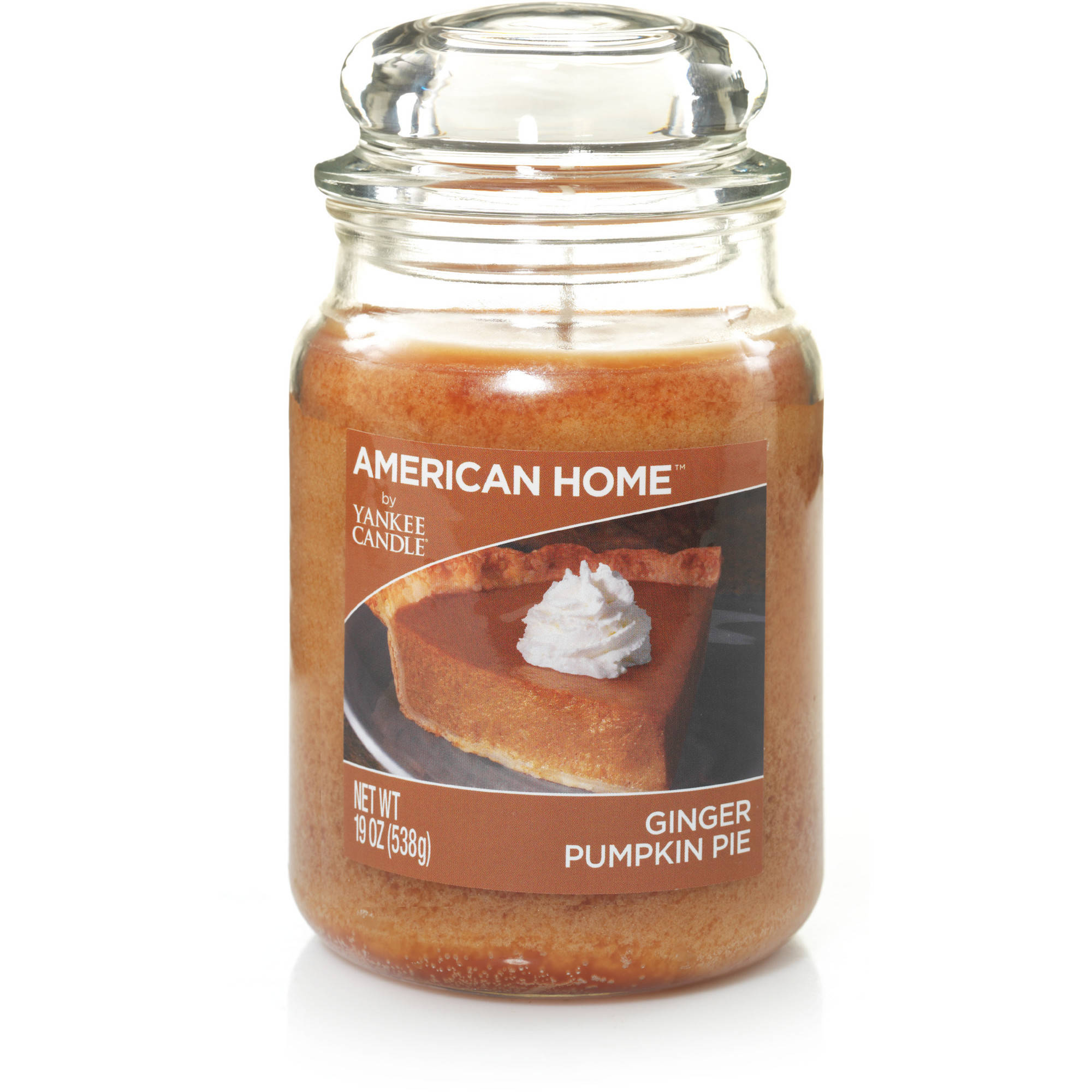 American Home by Yankee Candle Ginger Pumpkin Pie, 19 oz Large Jar