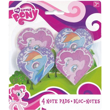 (4 Pack) My Little Pony Note Pad Party Favors, 4ct