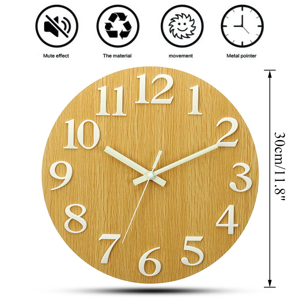 8 Style Luminous Wall Clock Number Quartz Hanging Glow In The Dark Living Room