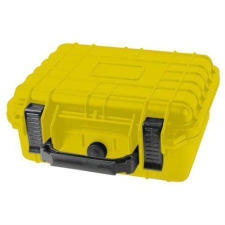 "Distributed By MCM 10"" Yellow Tactical Weatherproof Equipment Case"
