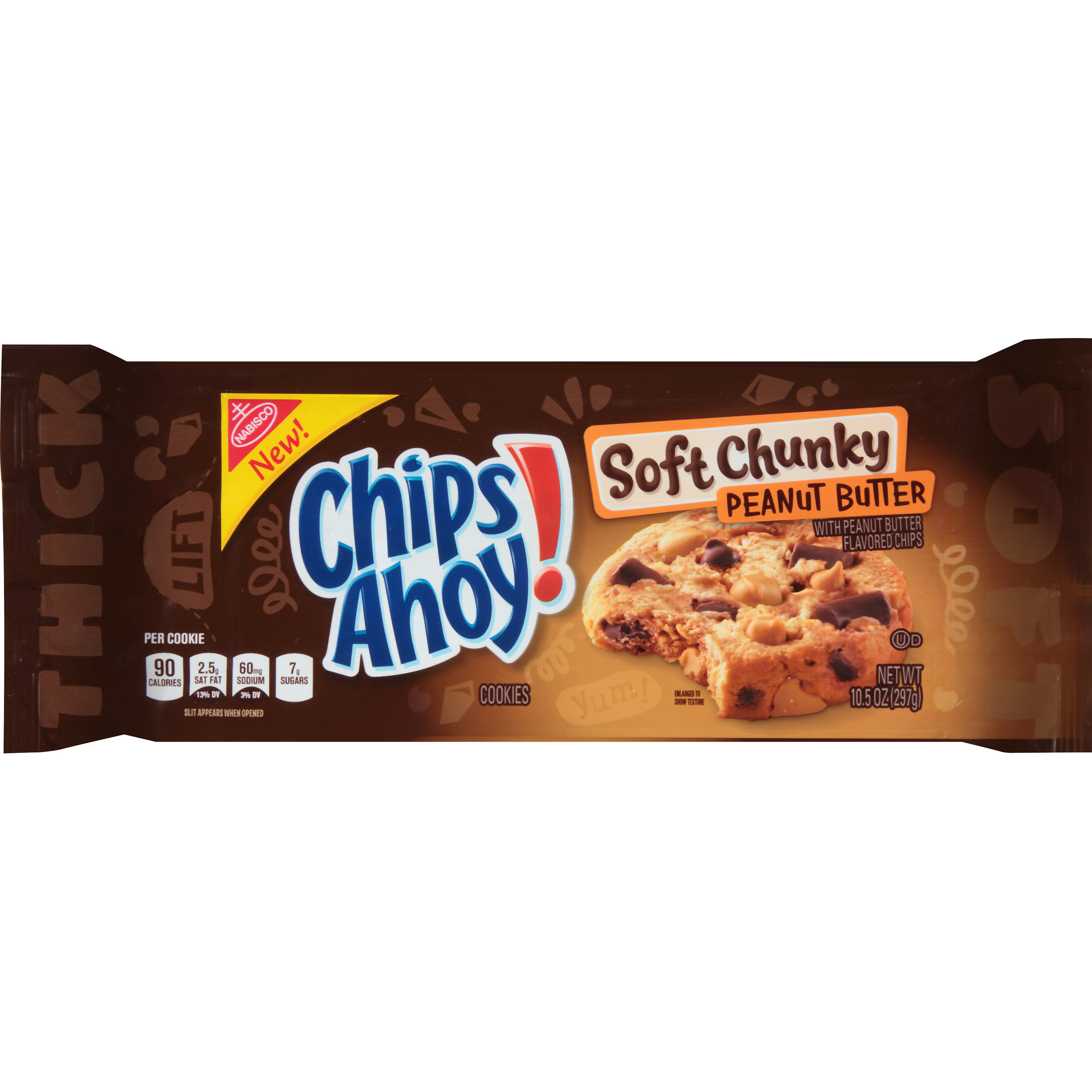 Nabisco Chips Ahoy! Soft Chunky Peanut Butter Cookies, 10.5oz