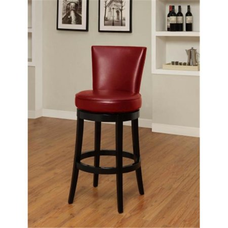 Bicast Leather Seats (Boston Swivel Barstool In Red Bicast Leather 30 in. Seat Height -)