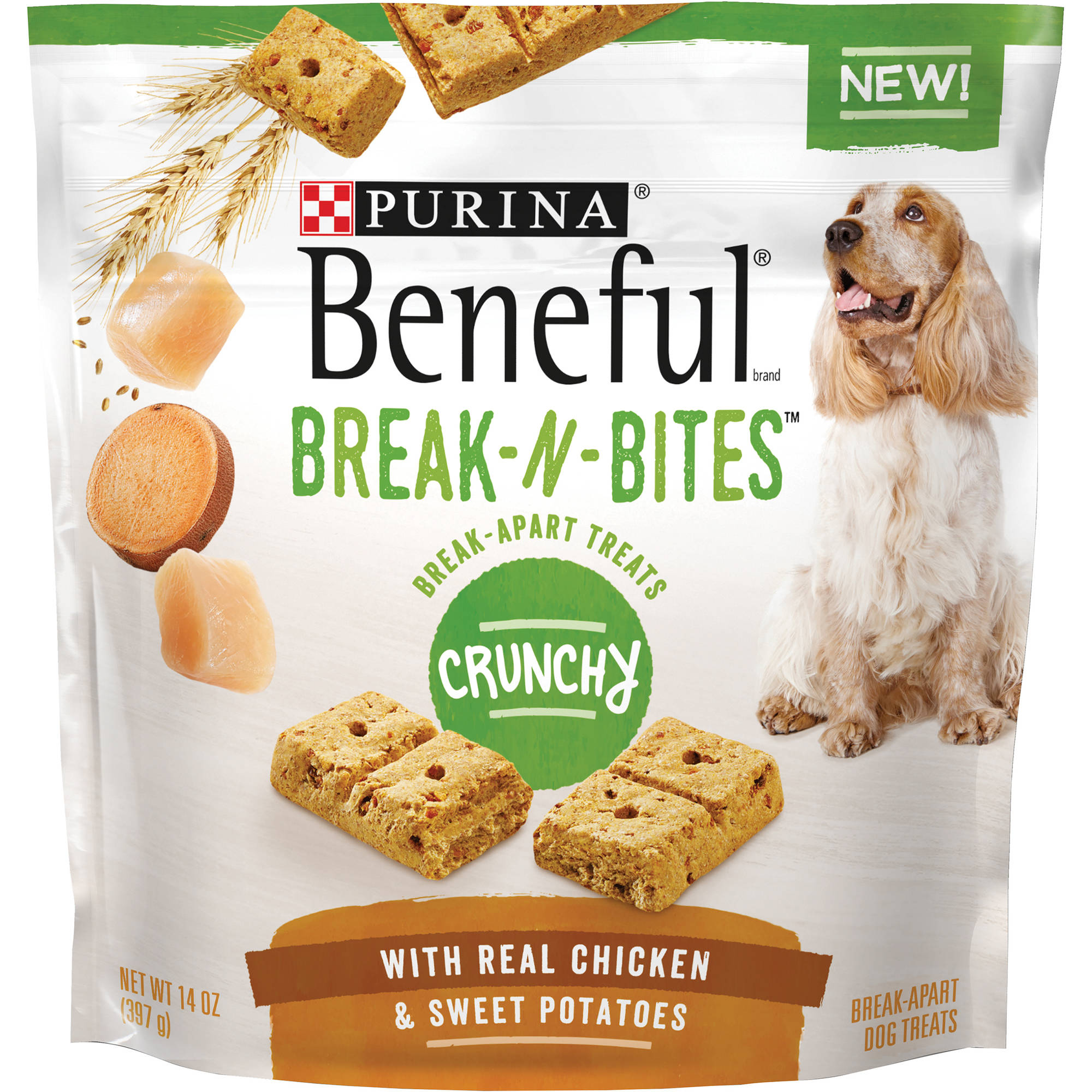 Purina Beneful Break-N-Bites Crunchy With Real Chicken & Sweet Potatoes Dog Treats 14 oz. Pouch