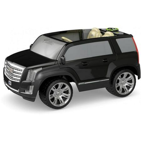 Power Wheels Cadillac Escalade Ride On Vehicle Black Walmart Com