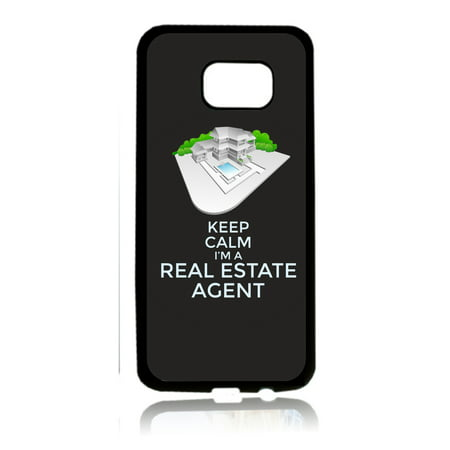 Keep Calm I'm a Real Estate Agent - Job Career Gift Appreciation Black Rubber Thin Case Cover for the Samsung Galaxy s6 - Samsung Galaxy s6 Accessories - s 6 Phone