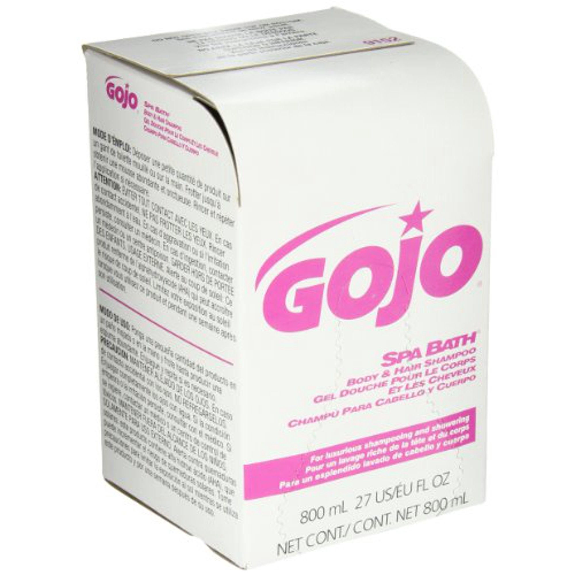 GOJO 800 Series SPA BATH Body and Hair Shampoo, 800 mL SPA BATH
