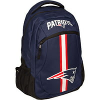 Forever Collectibles NFL New England Patriots Action Stripe Logo Backpack