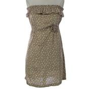 PRIORITIES Women's Strapless Floral Print Dress Beige
