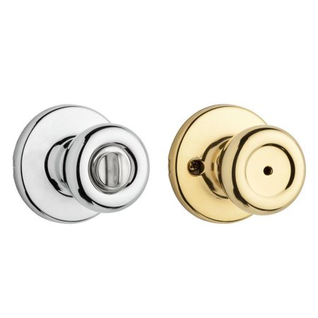300T 3X26 6AL RCS 300T Security Series Tylo Privacy Door Knobset, Polished Brass x Polished Chrome, For use on interior doors where a privacy locking function is.., By Kwikset