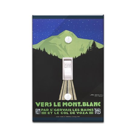 Vers le Mont - Blanc: 3 Posters Vintage Poster (artist: Dorival, Georges) France c. 1928 (Light Switchplate Cover)