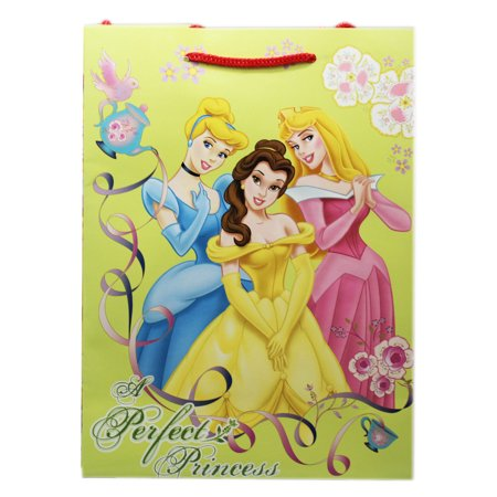 Disney Princess Belle, Cinderella, and Aurora Yellow Medium Size Gift Bag