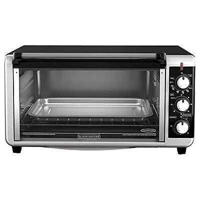 Applica Black-Decker Stainless Steel 8-Slice Extra Wide Toaster Oven, Black Brand New Kitchen Product by