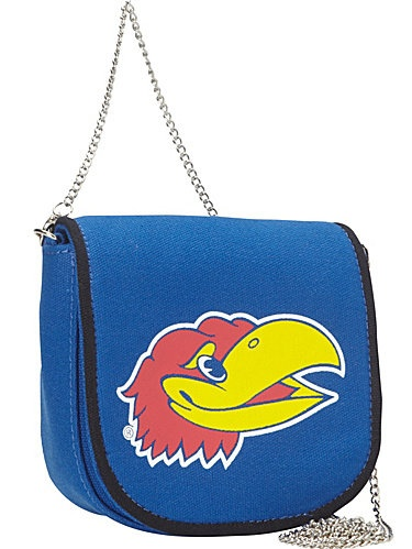 Ashley M University of Kansas Pleated Canvas Shoulder Bag
