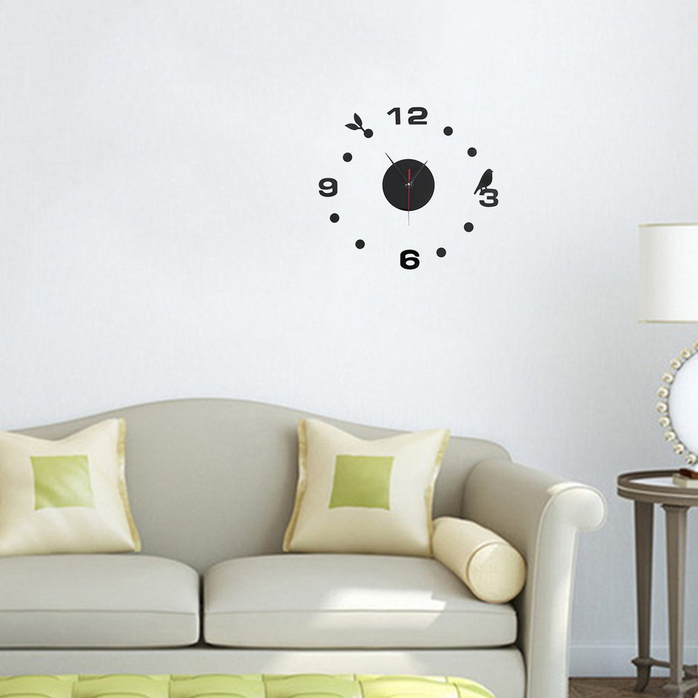 SimpleDigitsdiy Wall Clock Modern Design Sticker Set 3D Mirror Wall Clock  Acrylic Decal Home Living Room