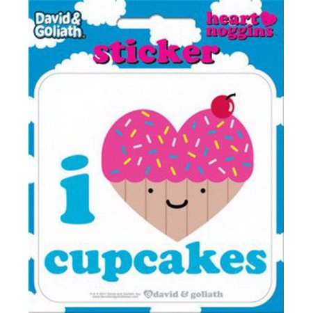 Stickers Dice - David and Goliath I Heart Cupcakes Die Cut Sticker 45120S