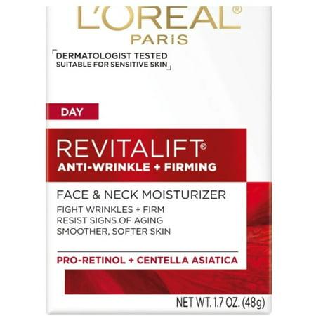 L'Oreal Revitalift Face & Neck Anti-Wrinkle & Firming Moisturizer 1.7 oz
