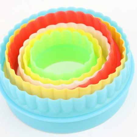 Colorful Multi-shape Plastic Mold Cookie Biscuit Cutter Mould Pastry Maker Tools - image 7 of 8