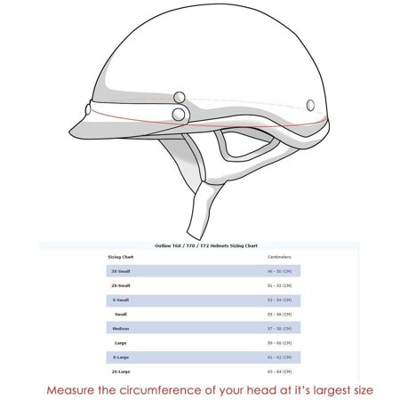 Outlaw Helmets Outlaw T71-Carbon Flat Black Carbon-Fiber Ultra-Light Motorcycle Helmet Matte Black - Helmet Small Matte