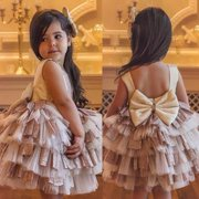 Baby Flower Girl Toddler Party Tutu Dress Pageant Wedding Birthday Princess 1-5T
