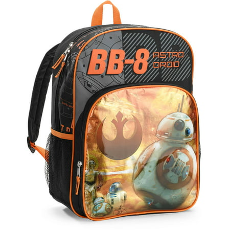 Star Wars BB-8 Droid 16in Deluxe Kids Backpack - Walmart.com 287e15a610