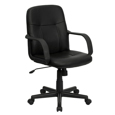 Flash Furniture Mid-Back Manager Chair with Arms,