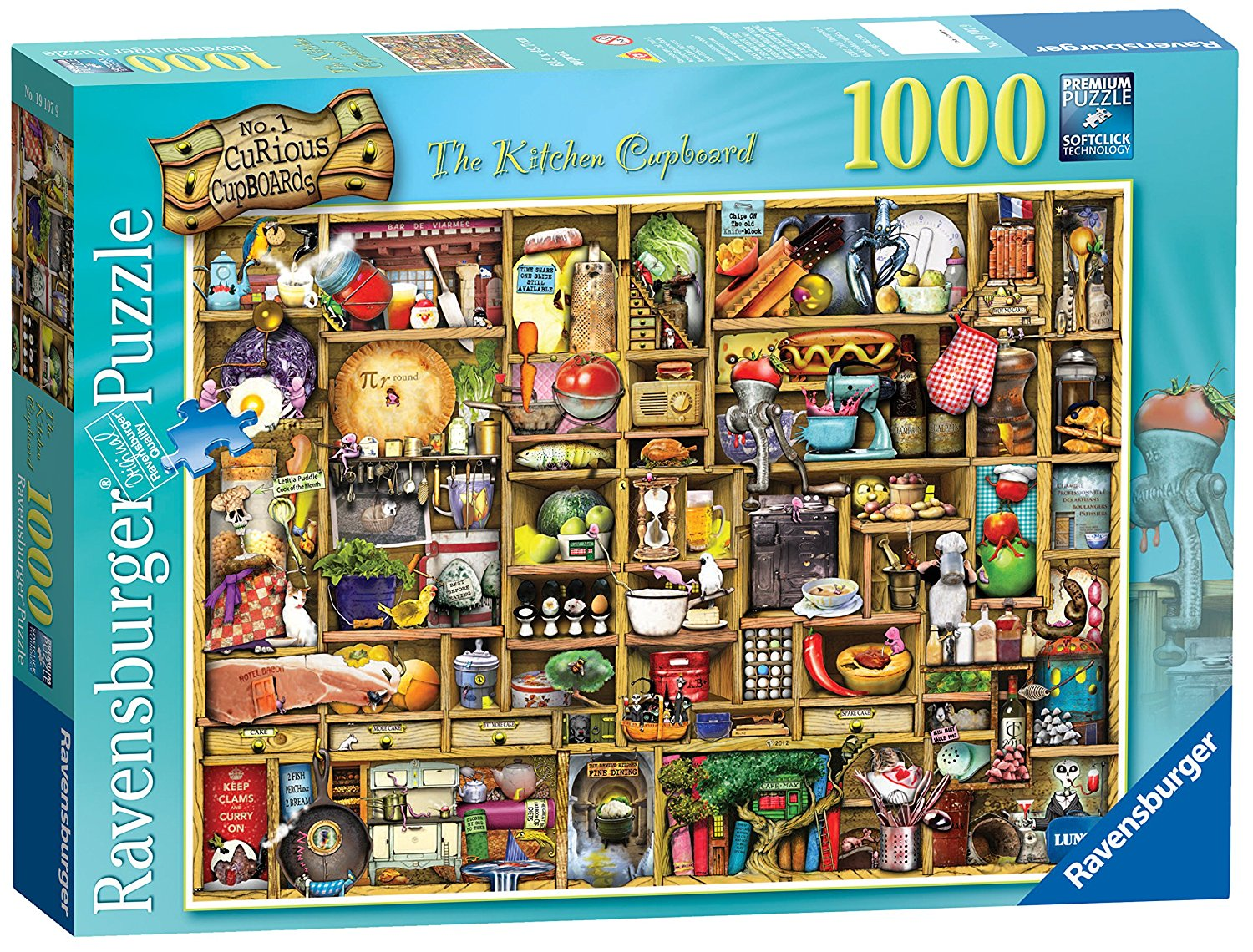 Curious Cupboard Kitchen 1000 Piece Puzzle By Ravensburger by