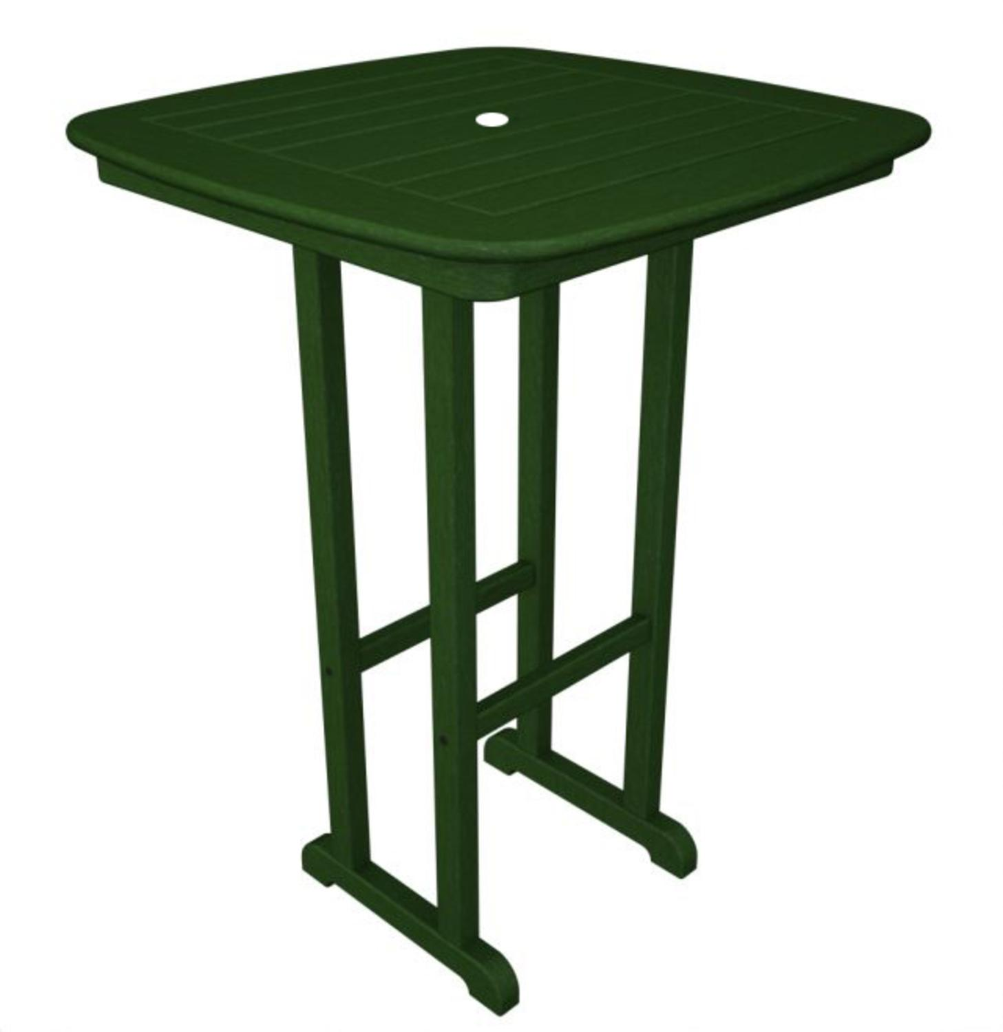 """31"""" Recycled Earth-Friendly Cape Cod Outdoor Patio Bar Table - Forest Green"""