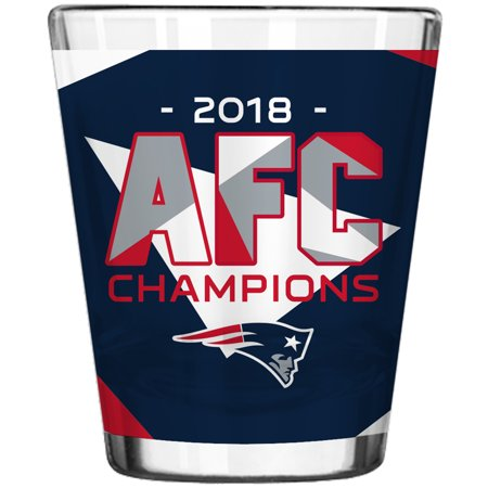New England Patriots 2018 AFC Champions 2oz. Sublimated Shot Glass - No Size (New England Sports Shot Glasses)