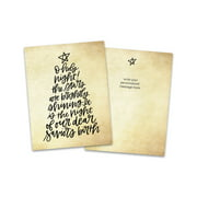 Personalized Holiday Word Tree Folded Holiday Greeting Card