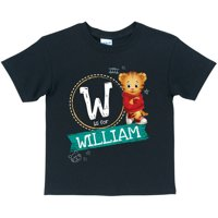 Personalized Daniel Tiger's Neighborhood Chalkboard Toddler Boy Black T-Shirt