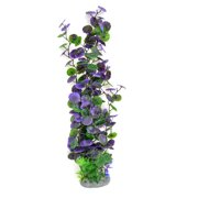Unique Bargains Aquarium Landscaping Green Purple Emulational Plant Grass Decor 21.3""