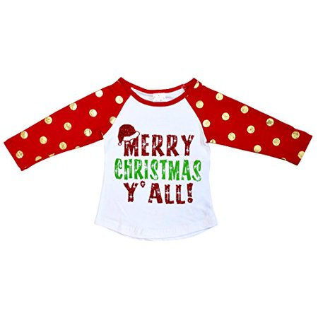 - Unisex Kids Merry Christmas and Happy New Year Shirt (4T/M, Red)